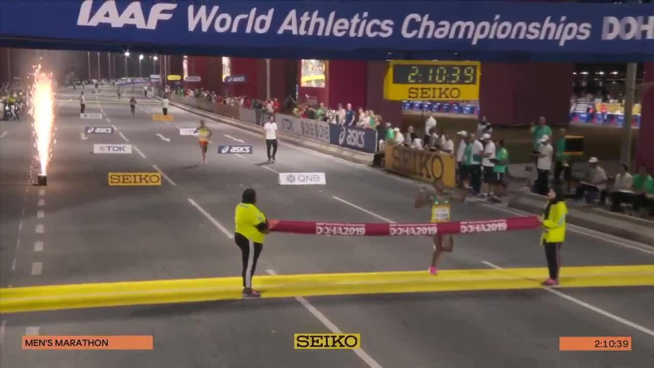 Lelisa Desisa về nhất marathon nam ở giải VĐTG điền kinh 2019