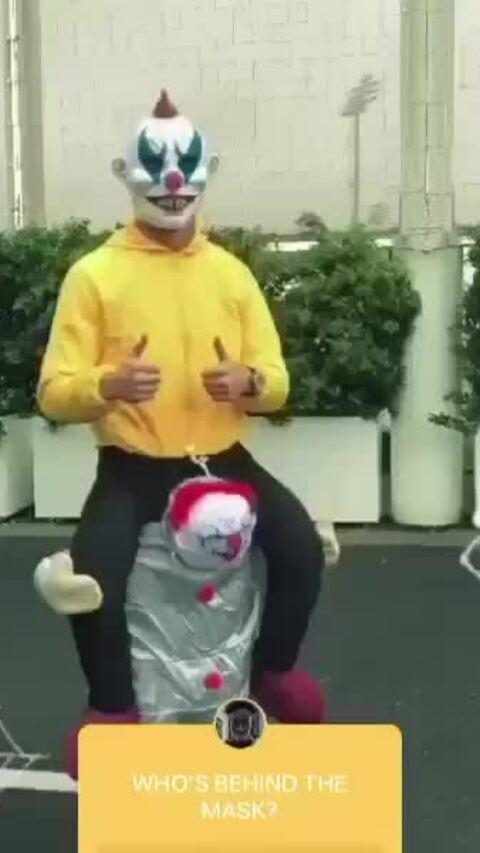 Ronaldo hóa trang thành Joker