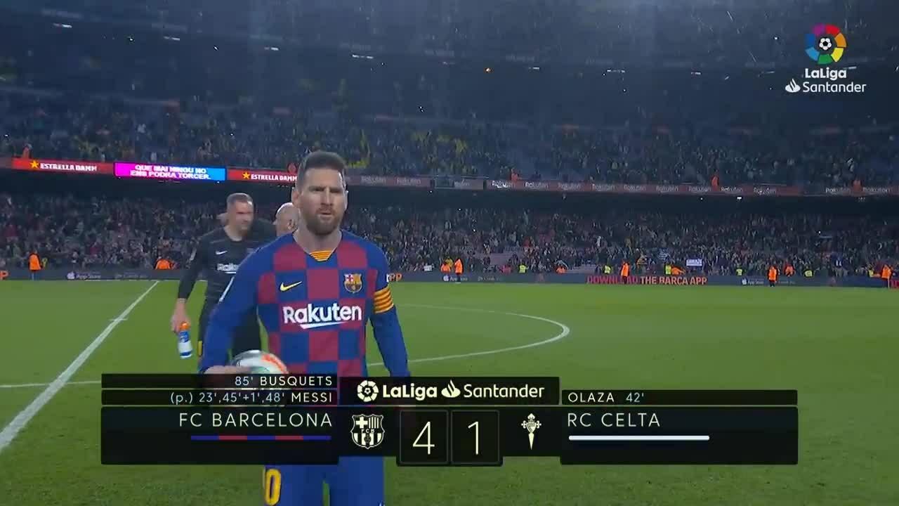 Messi lập hat-trick từ đá phạt