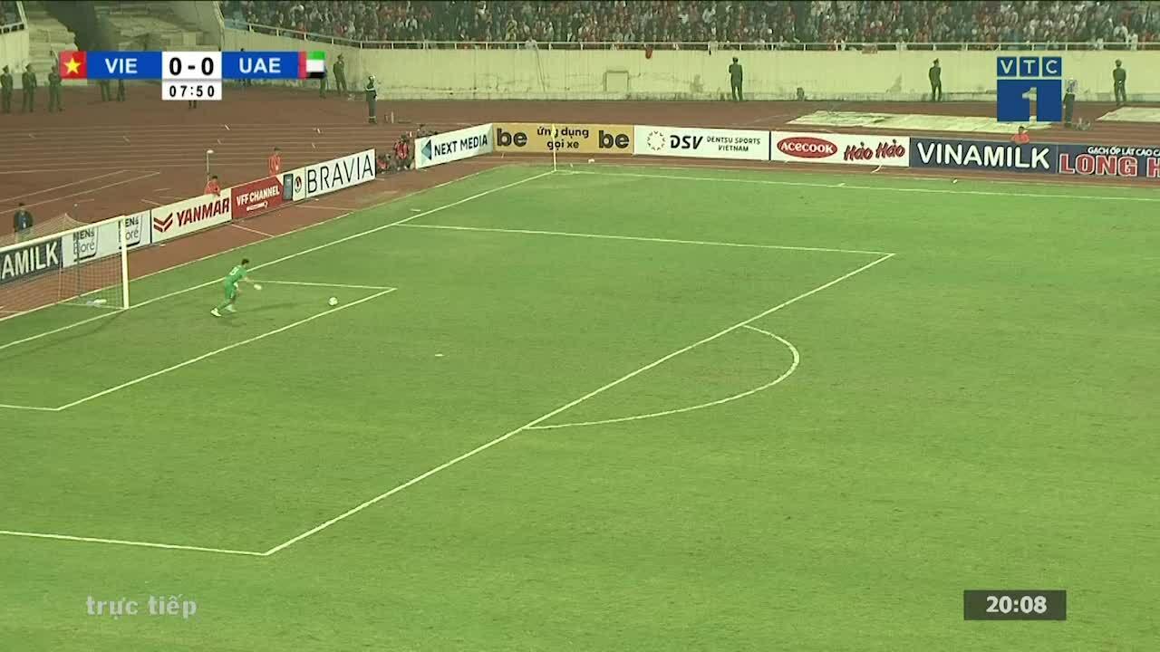 Những pha xử lý của Tuấn Anh trong trận thắng UAE