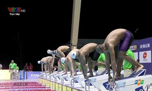 Huy Hoàng phá kỷ lục SEA Games nội dung 400 mét tự do nam