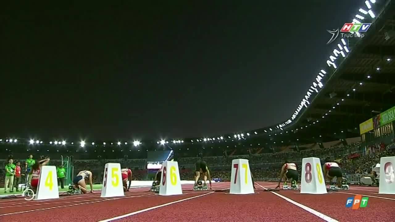 Tú Chinh đoạt HC vàng 100 mét nữ với thành tích 11,54 giây