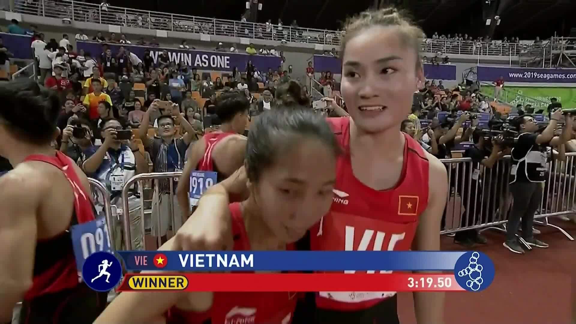 Việt Nam đoạt HC vàng tiếp sức hỗn hợp 4 x 400 mét