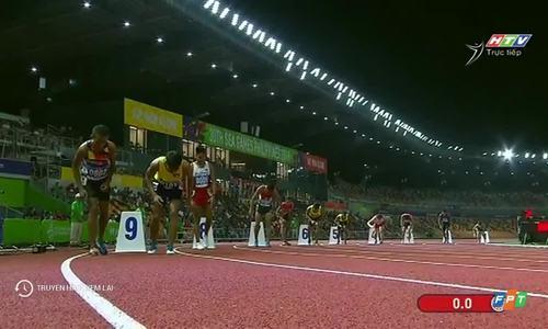 Dương Văn Thái chạy chung kết 800 mét nam