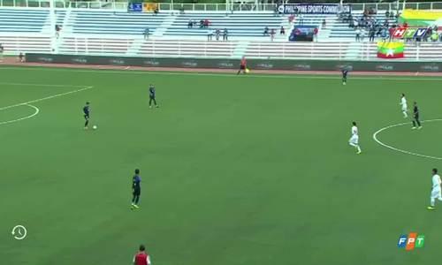 Campuchia ghi bàn ngay giây thứ 20