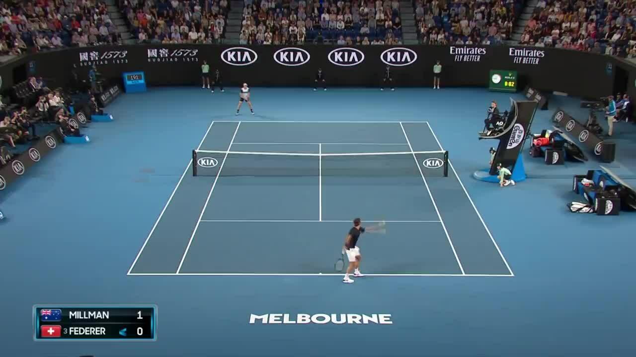 Roger Federer 3-2 John Millman