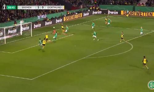 Pha làm bàn của Haaland ở Cup Quốc gia Đức