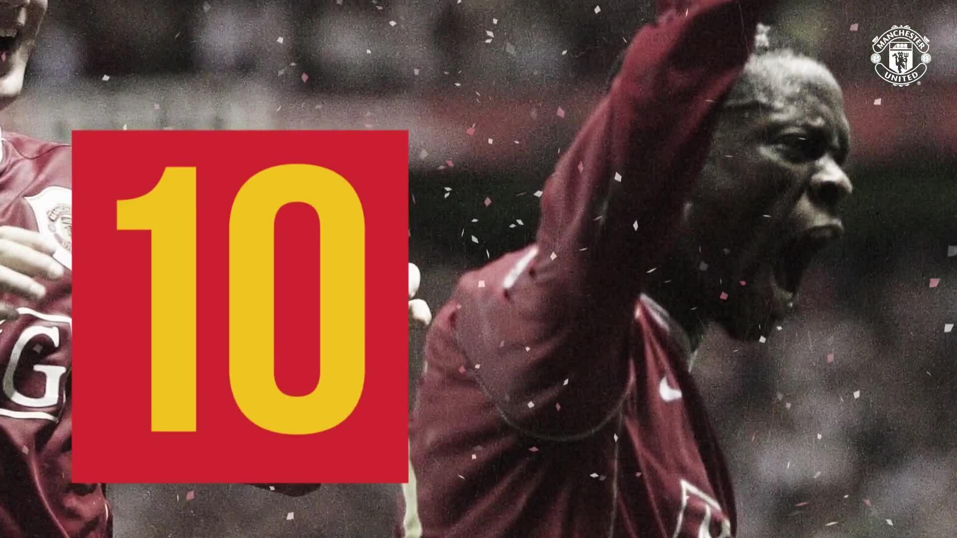 Top 10 bàn thắng của Saha cho Man Utd