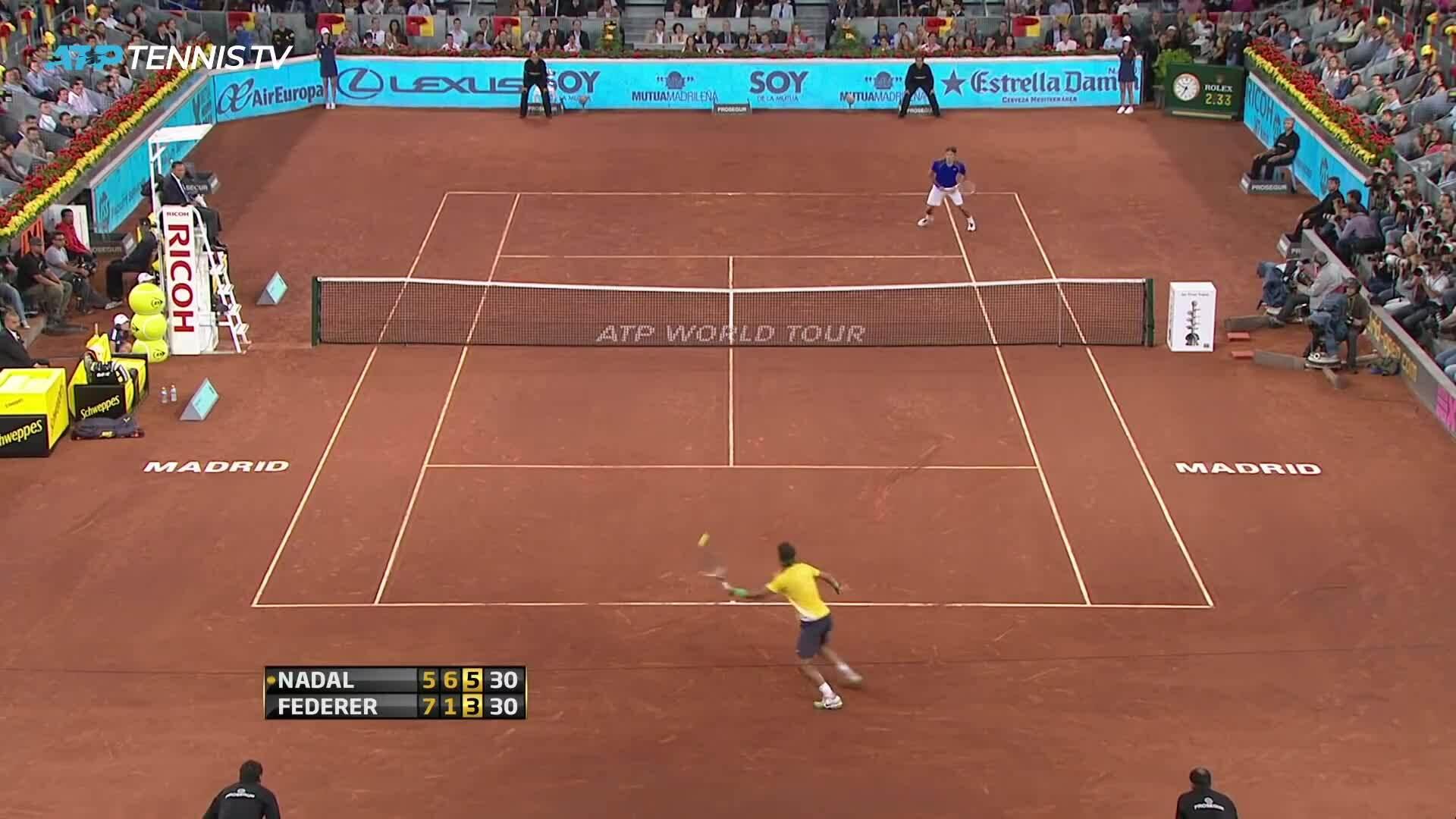 Những cú đánh ấn tượng giữa Roger Federer và Rafael Nadal