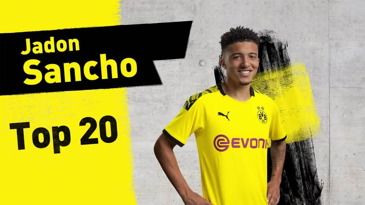 Top 20 bàn thắng và kiến tạo của Sancho