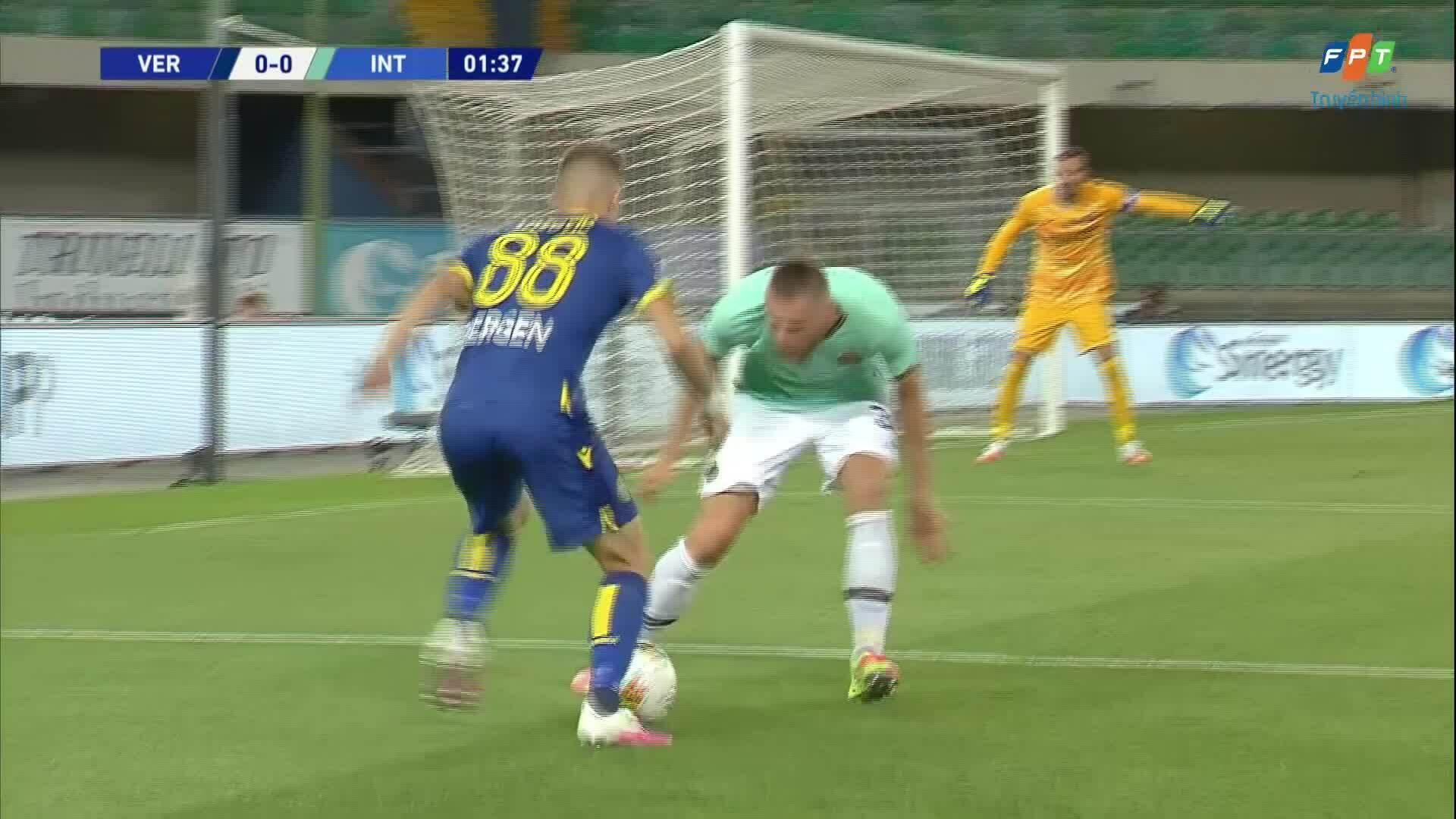 Verona 2-2 Inter