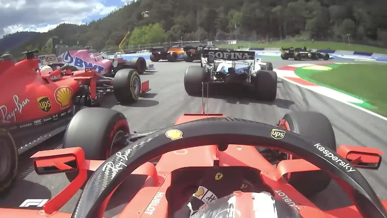 Leclerc đâm vào Vettel