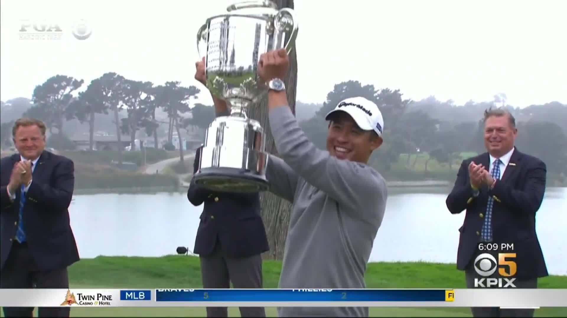 Golfer làm rơi nắp Cup