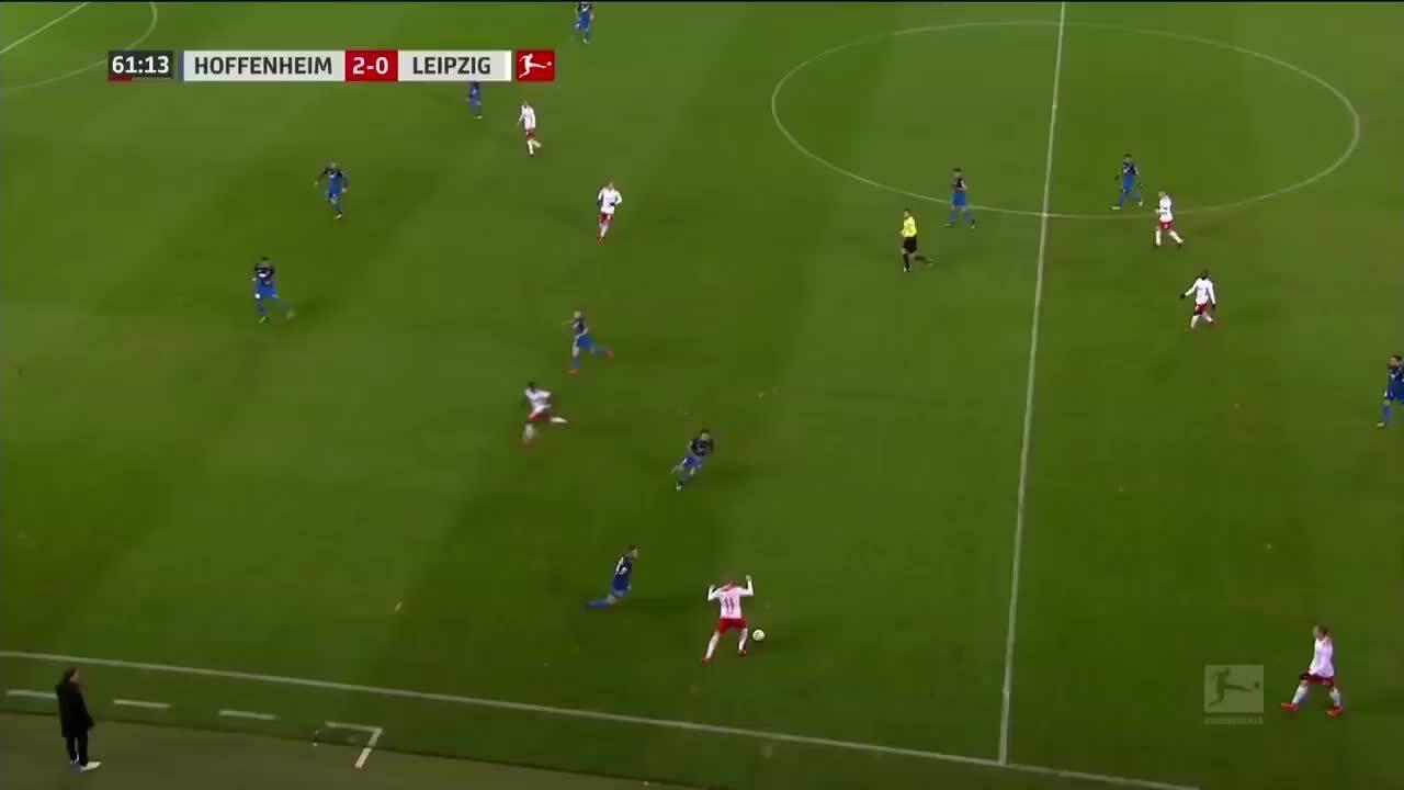 Serge Gnabry goal Leipzig 2017-18