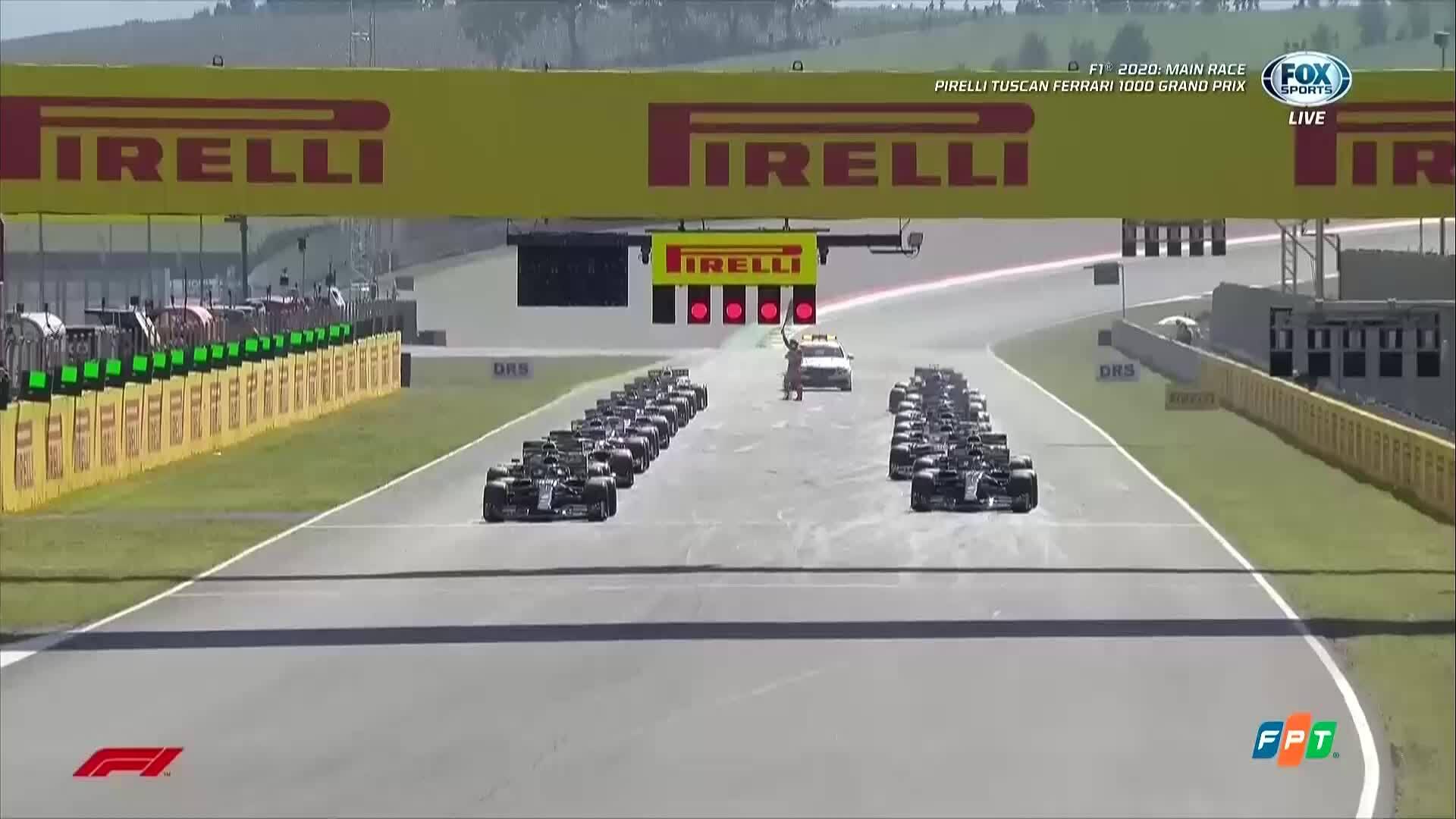Hamilton về nhất tại Tuscan GP