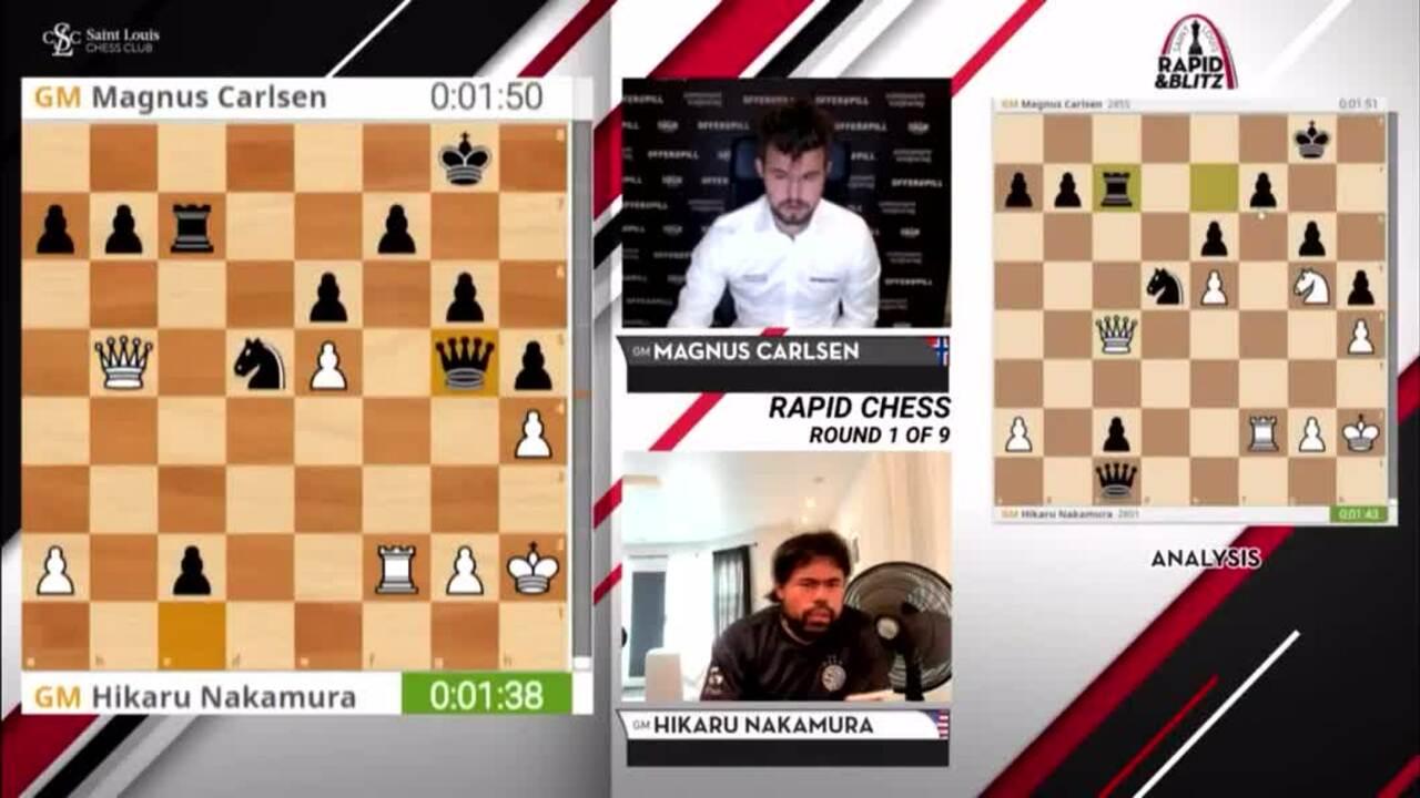 Carlsen thí hậu, hạ Nakamura
