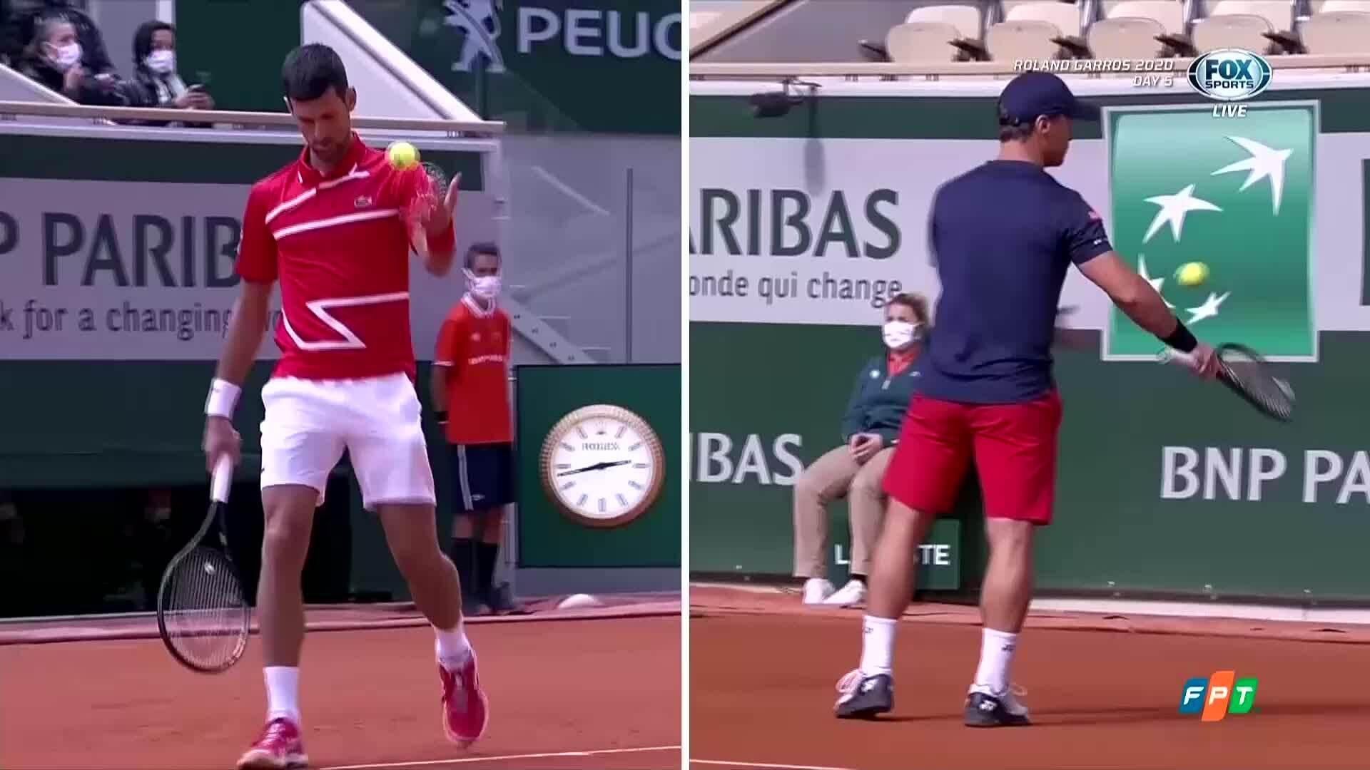 Novak Djokovic 3-0 Ricardas Berankis