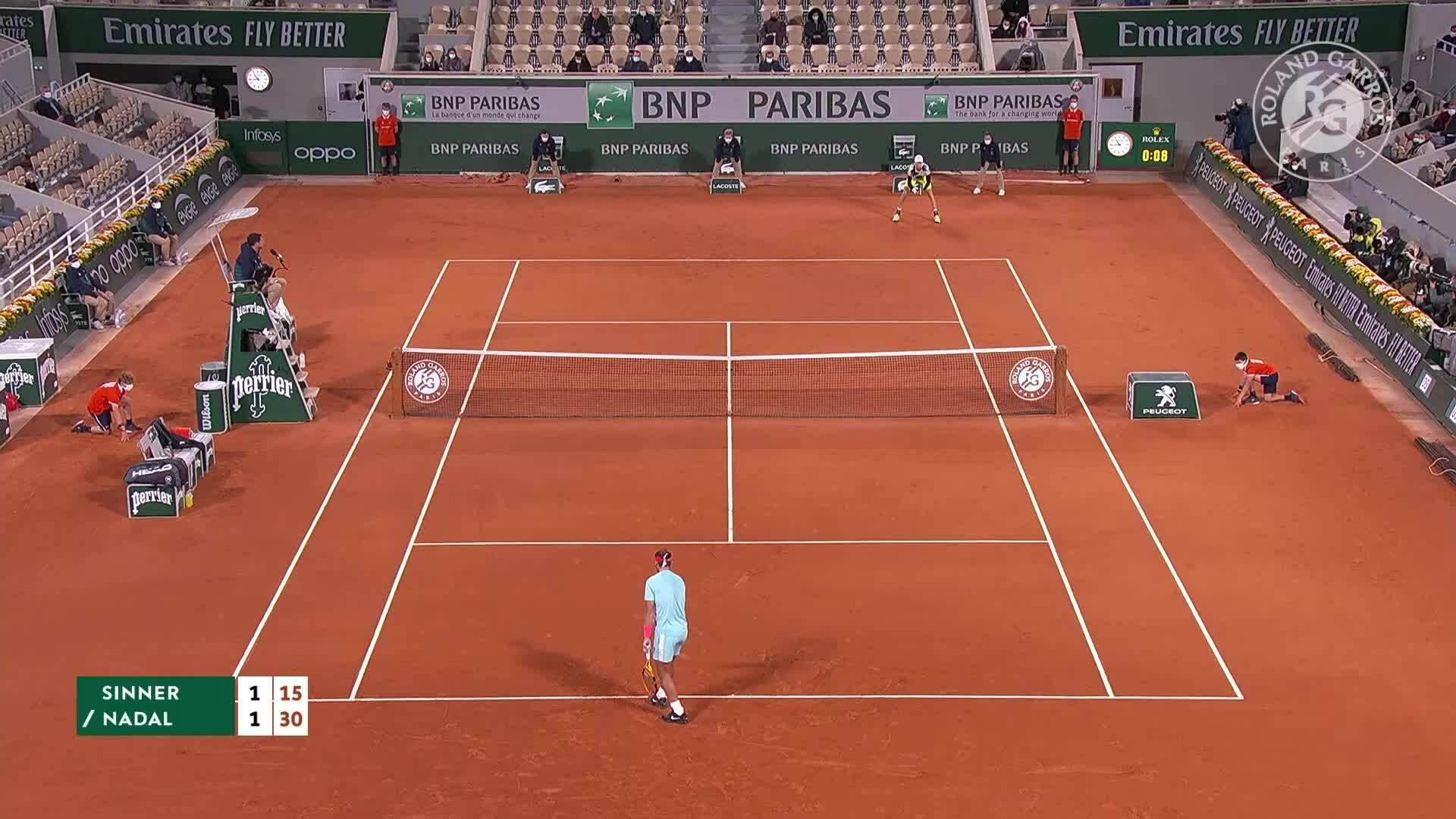 Rafael Nadal 3-0 Jannik Sinner