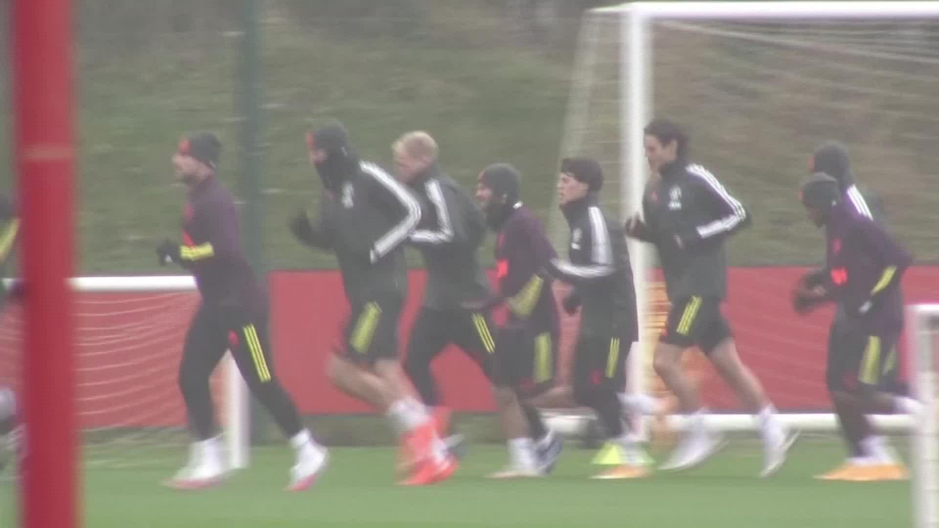 Cầu thủ Man Utd chuẩn bị cho trận gặp Leipzig