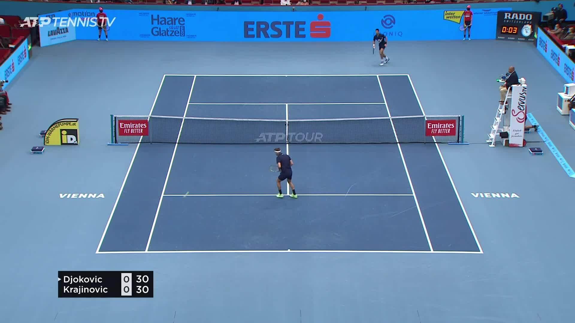 Djokovic vs Krajinovic Battle