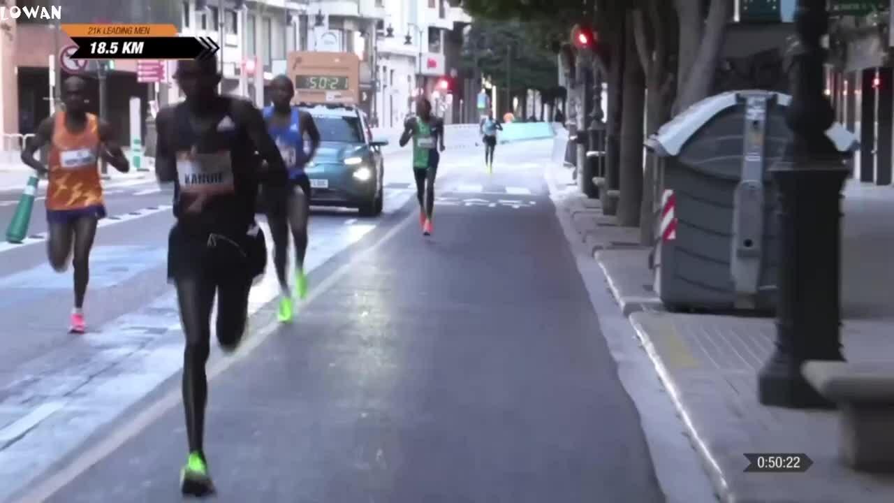 The Kenyan athlete set a record to run a half marathon in under 58 minutes