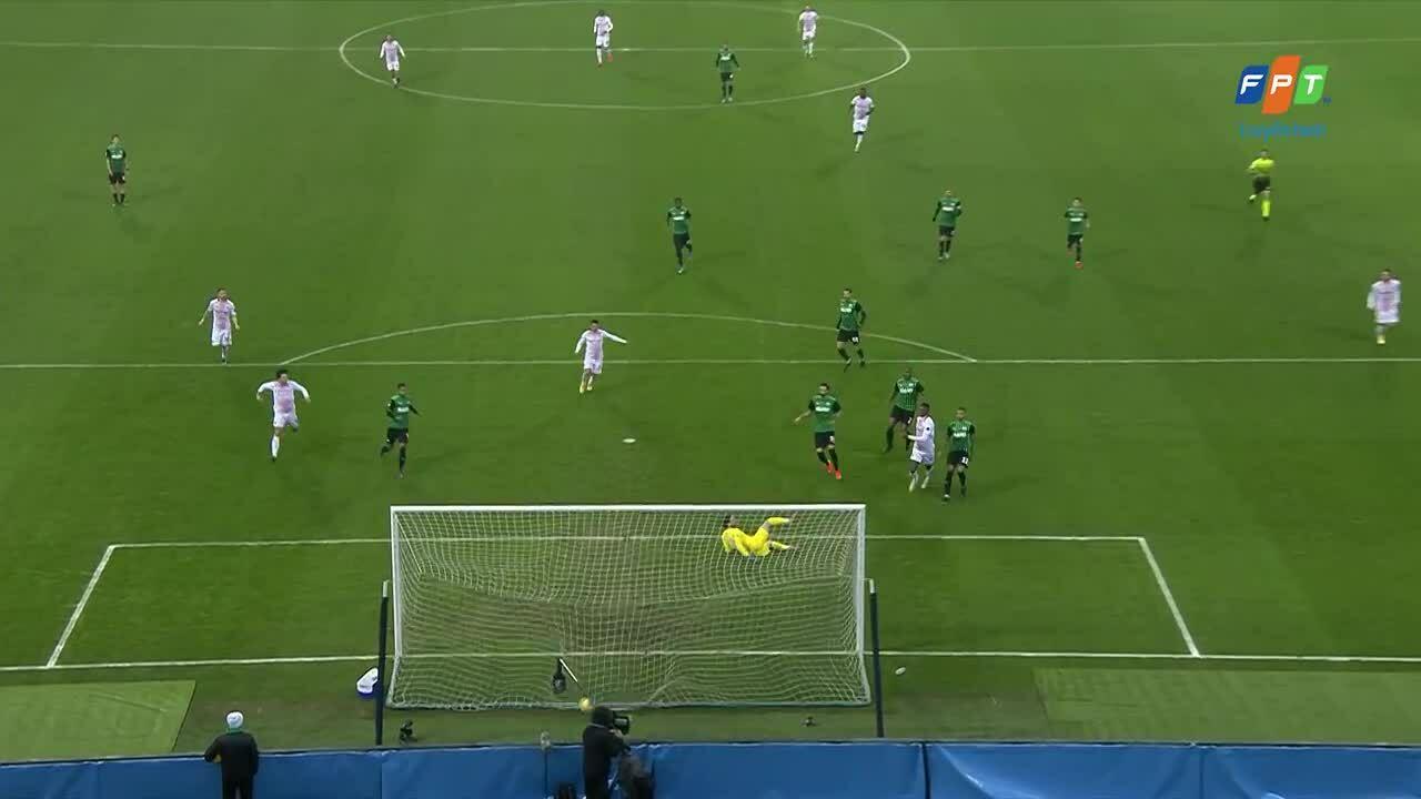 Milan ghi bàn ở giây thứ sáu