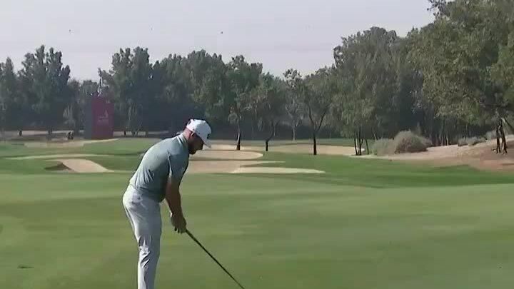 Hatton eagle hole 10 round 1 of the Abu Dhabi HSBC Championship