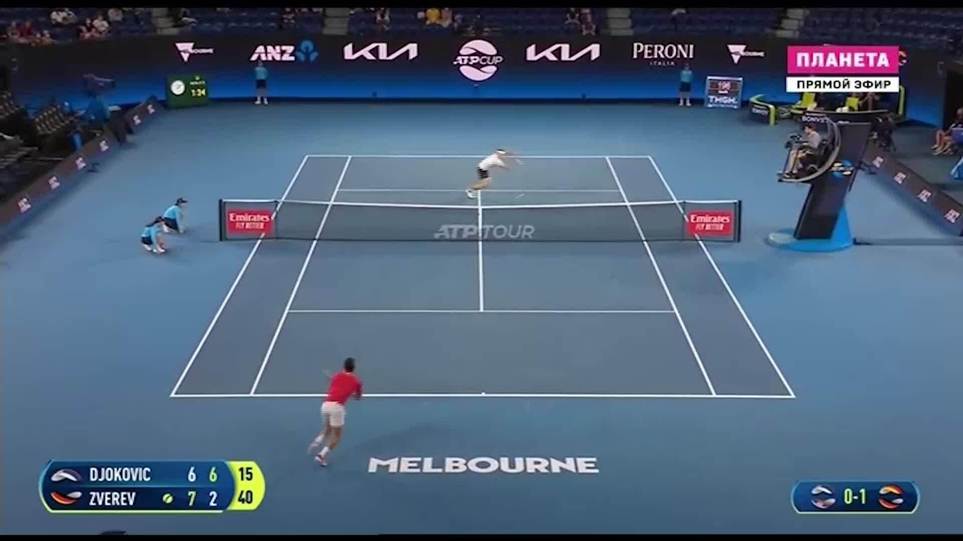 Djokovic 2-1 Zverev
