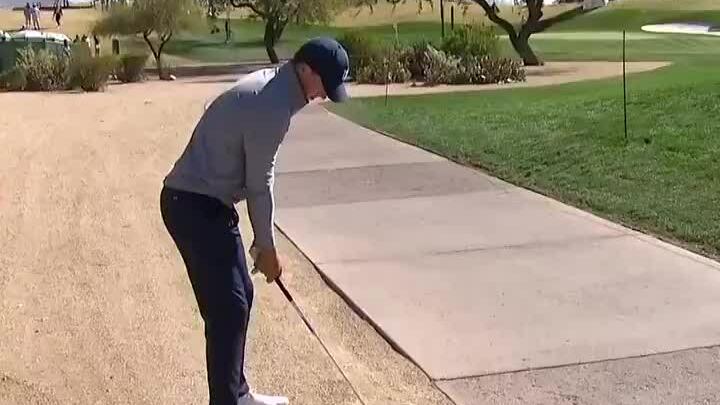 Spieth's shot in hole 6
