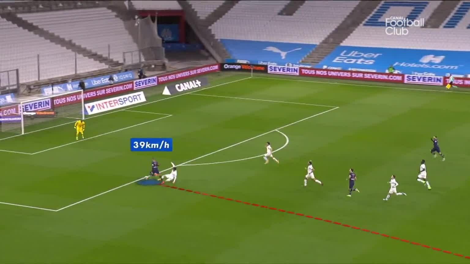 Mbappe mempercepat 99m untuk mencetak gol