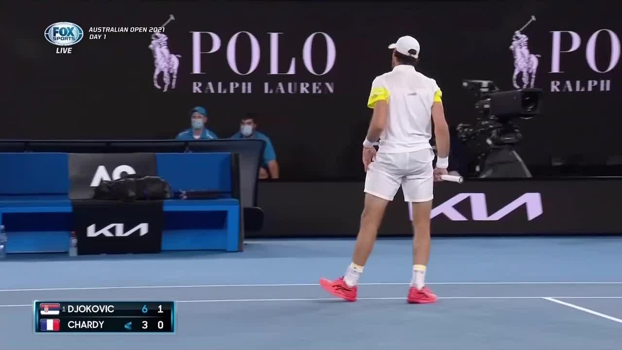 Novak Djokovic 3-0 Jeremy Chardy