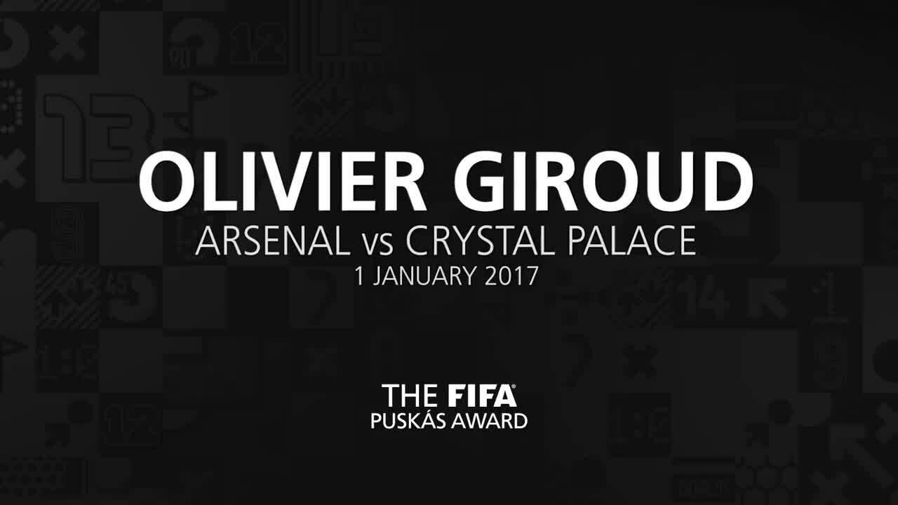 Giroud memenangkan penghargaan Best Goal of 2017