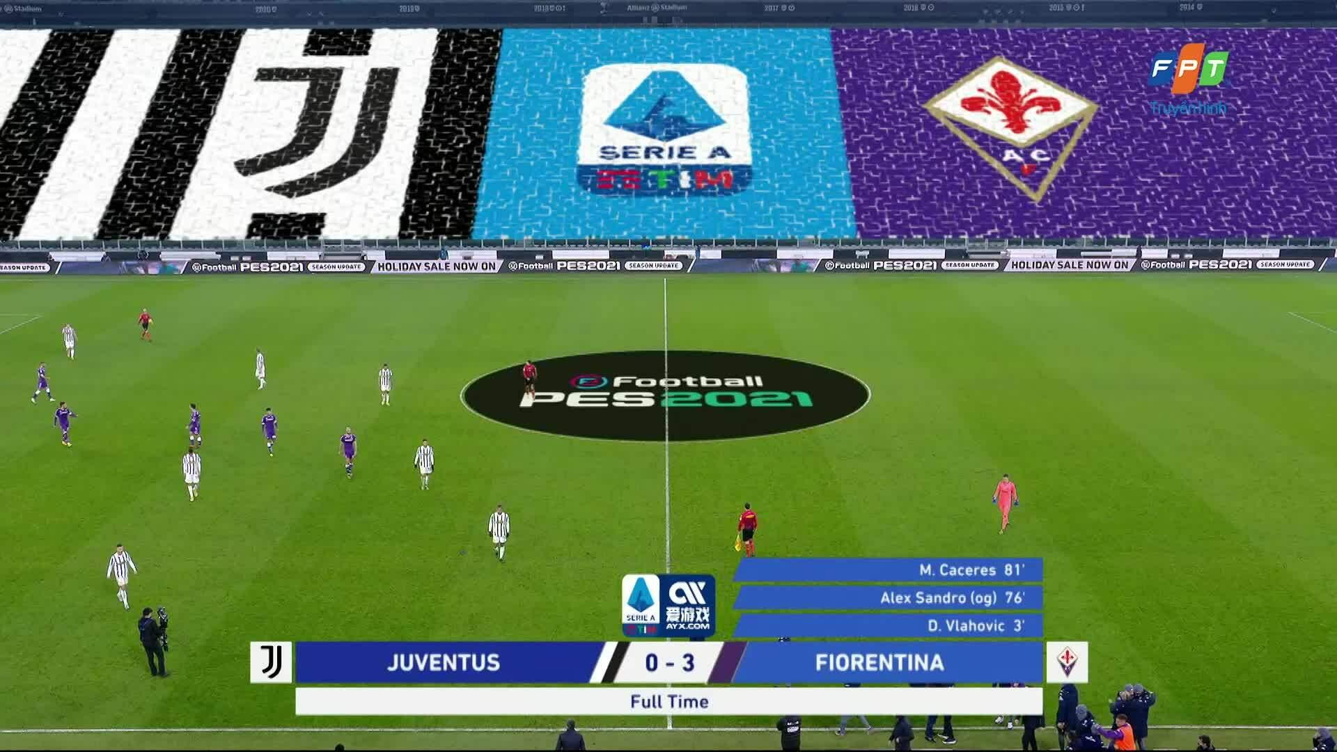 Juventus 0-3 Fiorentina