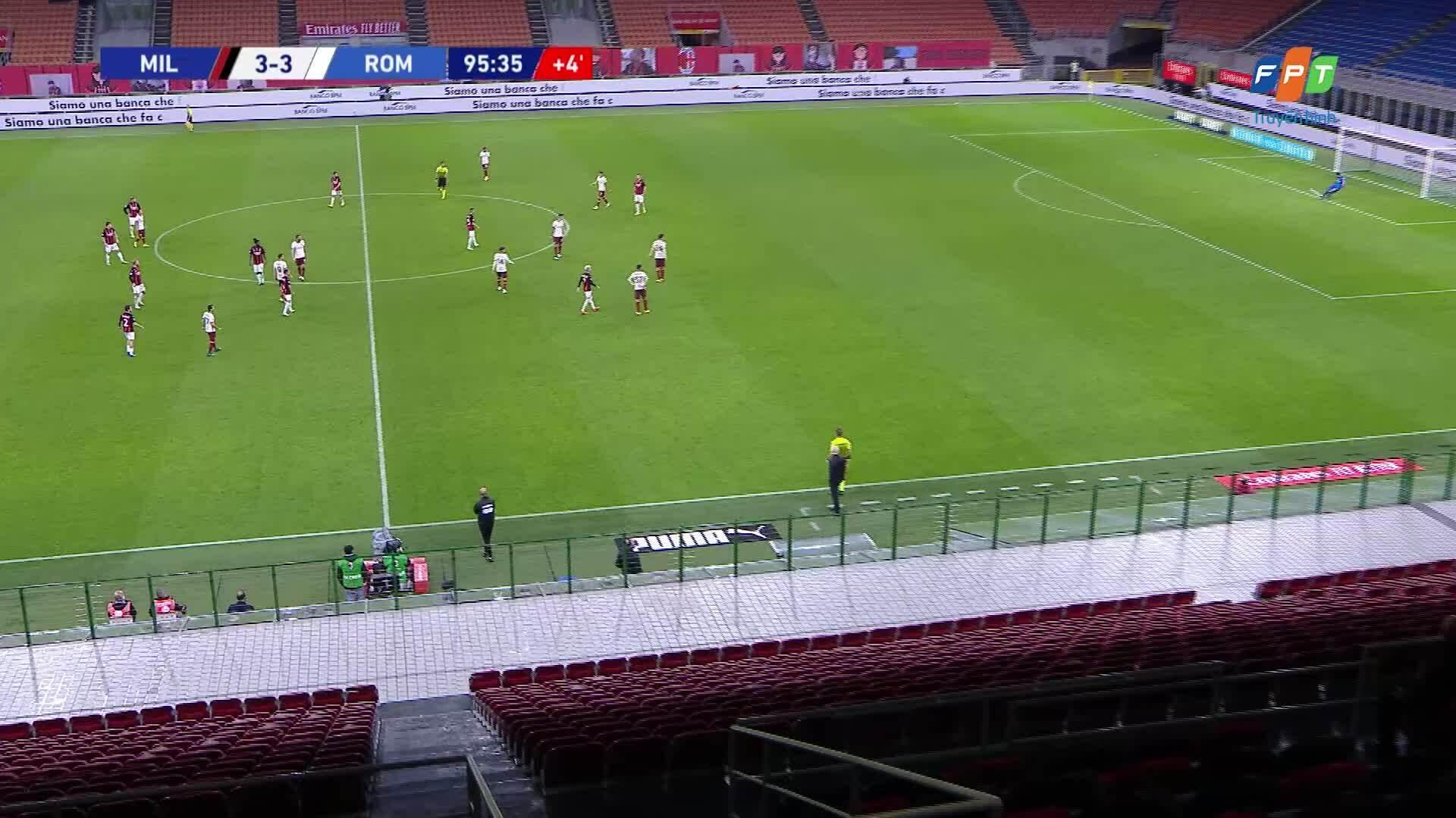 Milan 3-3 Roma
