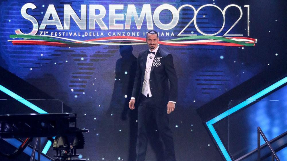 Ibrahimovic lần đầu xuất hiện tại Sanremo