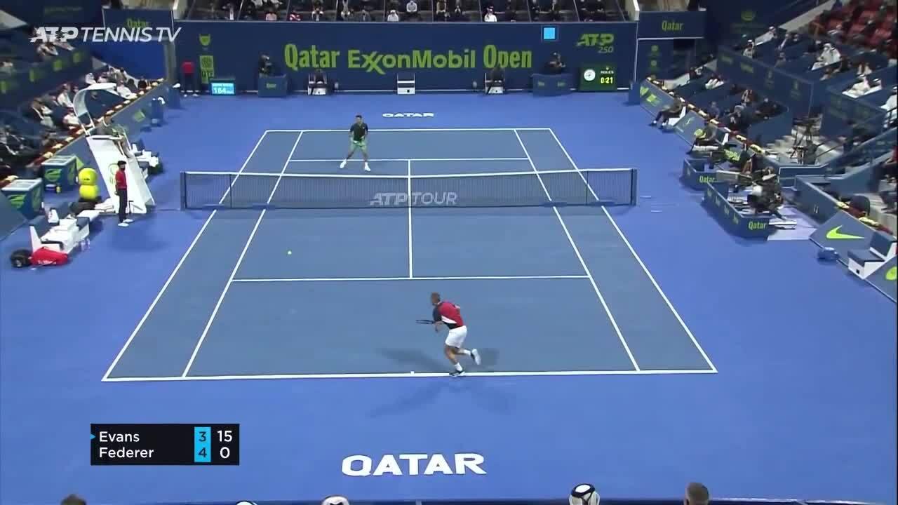 Evans 1-2 Federer