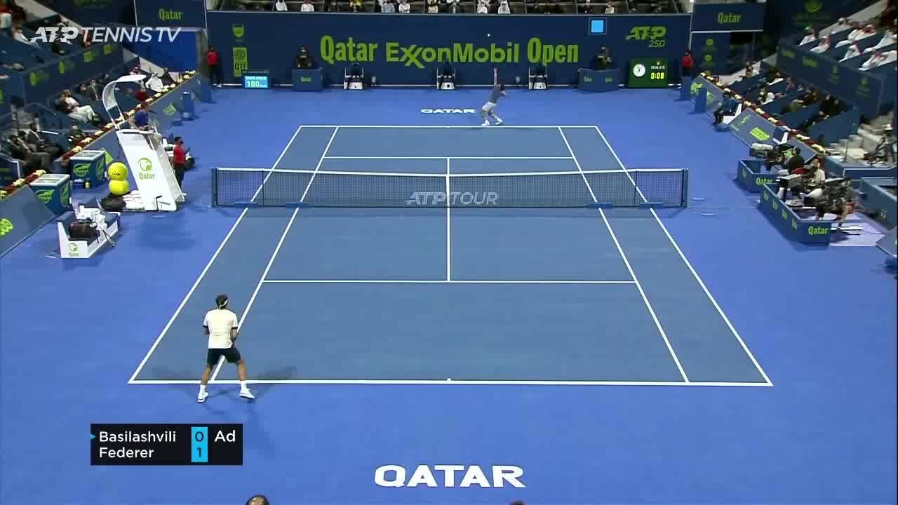 Federer 1-2 Basilashvili