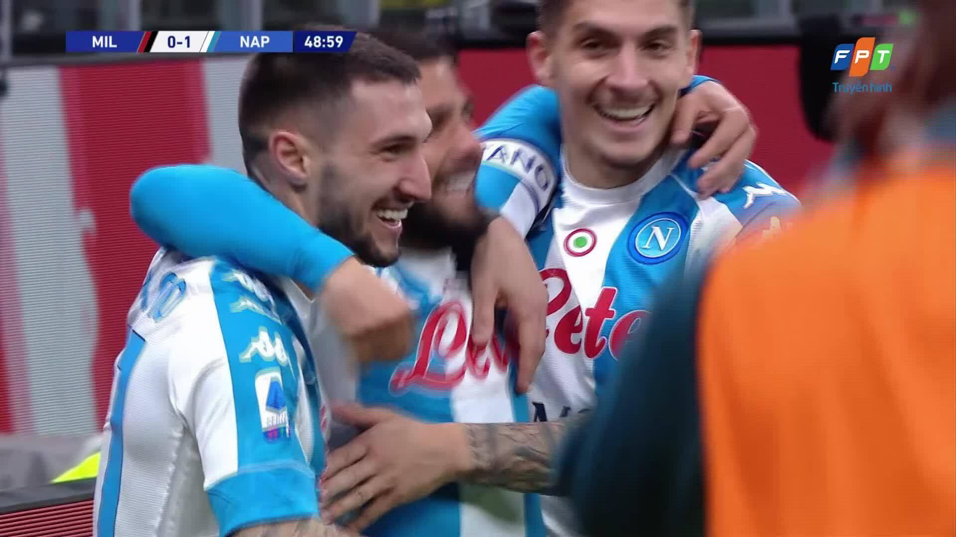Milan 0-1 Napoli