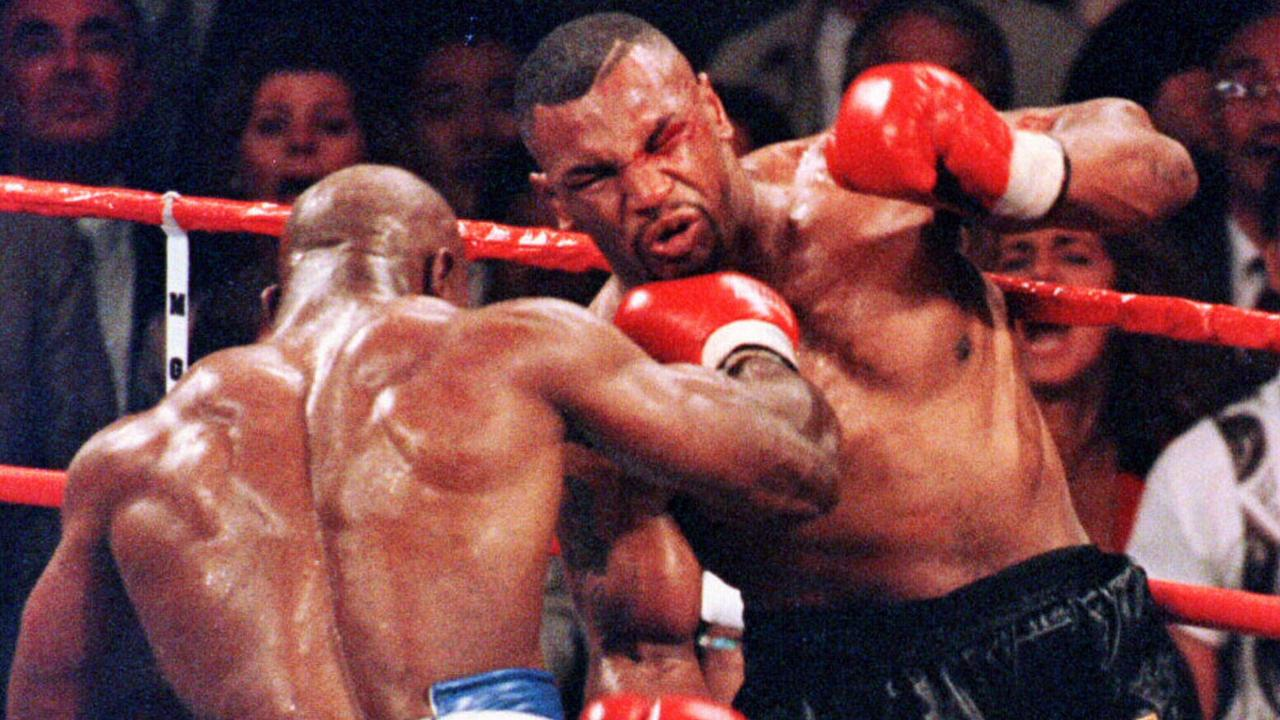 Holyfield beat Tyson by a technical knock-out in 1996