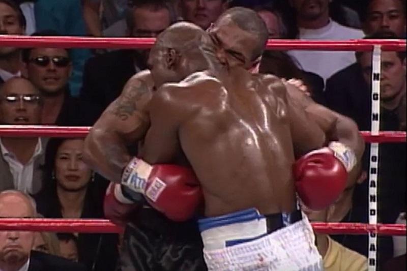 Tyson bit Holyfield's ear in 1997