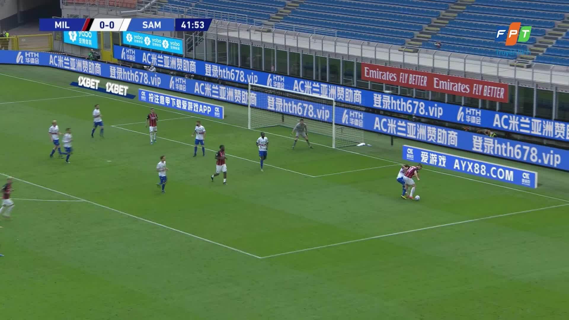 Milan 1-1 Sampdoria