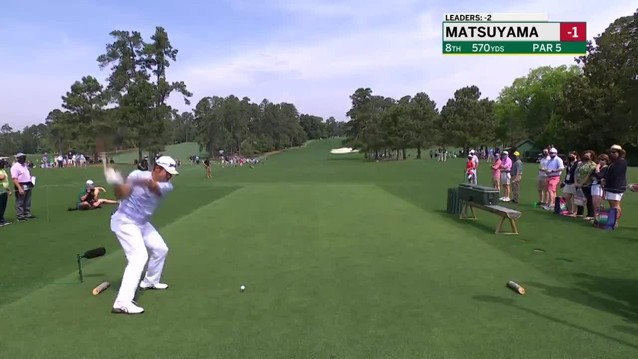 Matsuyama eagle on hole 8 par5 Masters 2021 first round