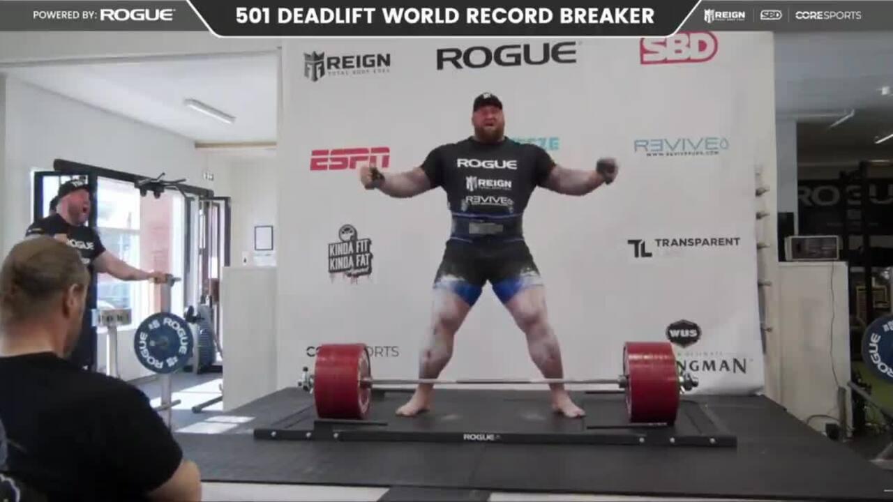 Hafthor Bjornsson mencetak rekor angkat beban 501 kilogram