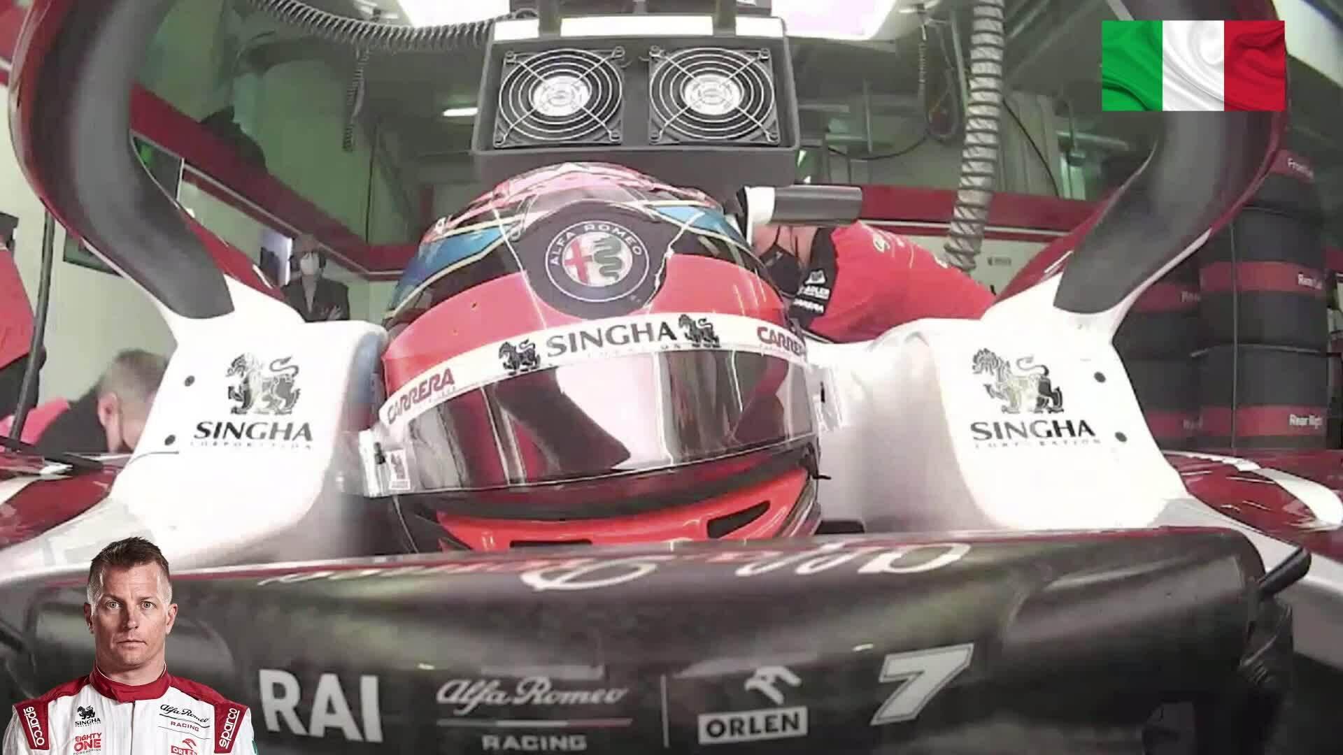Raikkonen tertidur di dalam mobil F1
