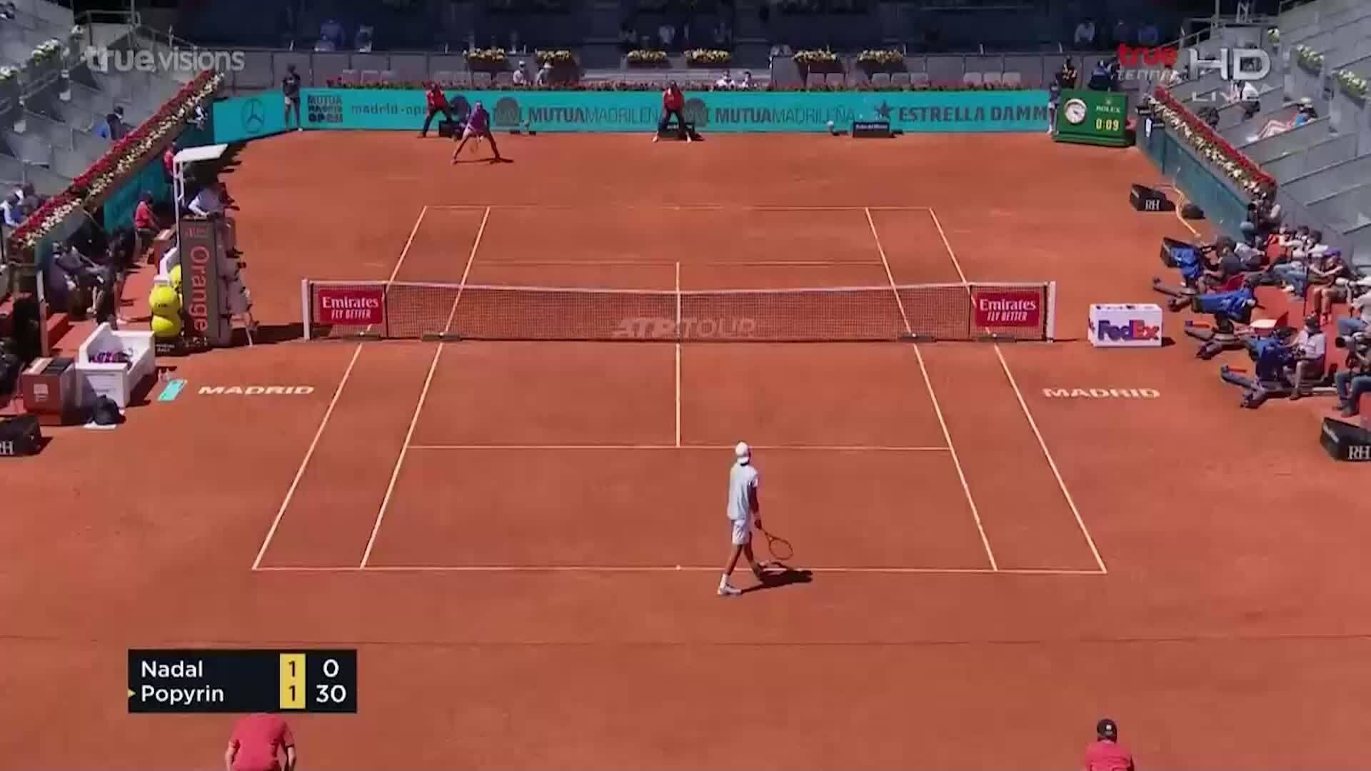 Nadal 2-0 Popyrin