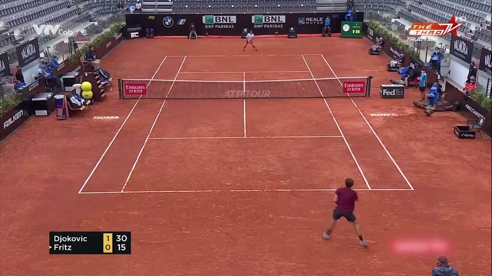 Djokovic 2-0 Fritz