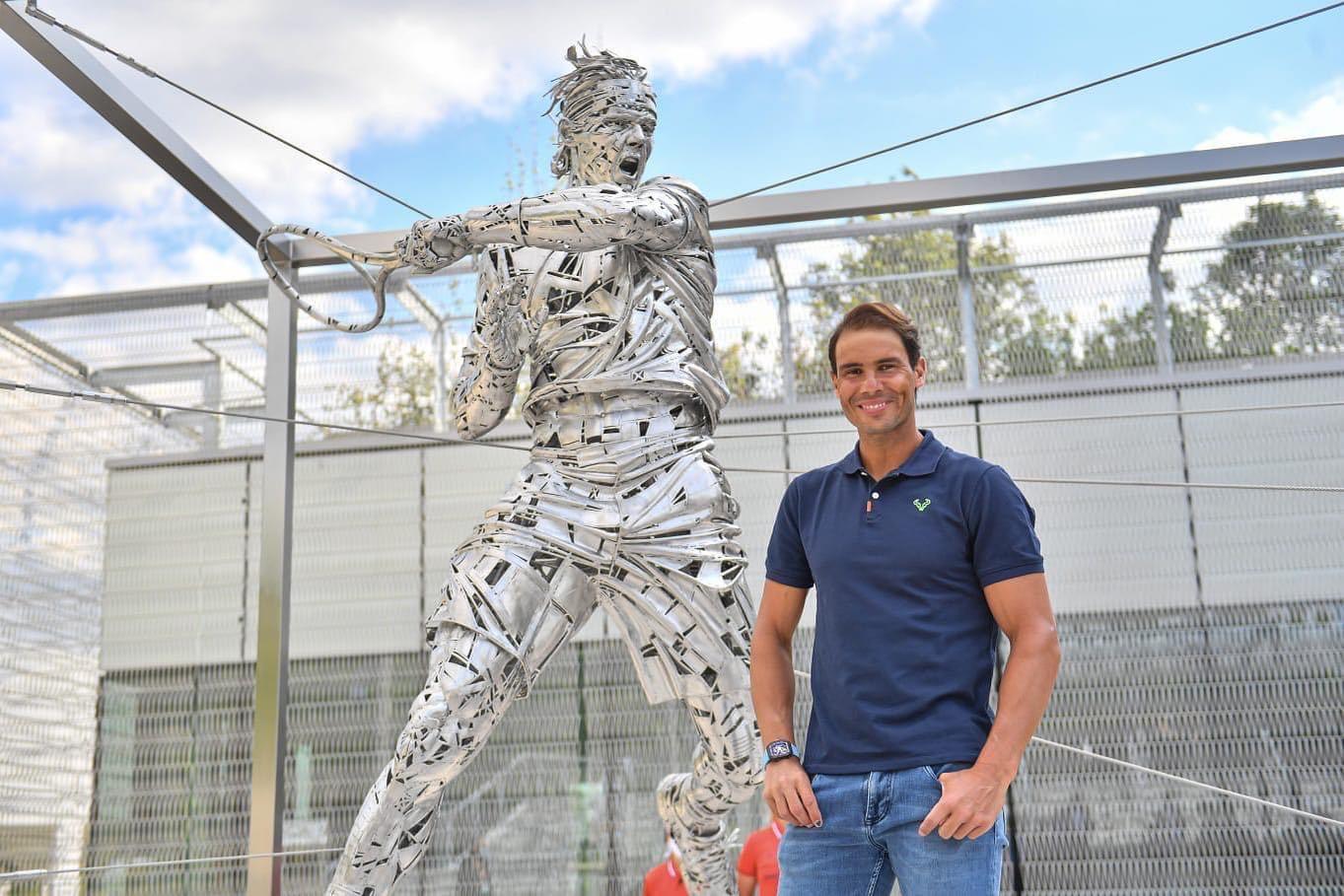 Nadal khánh thành tượng bản thân ở Roland Garros