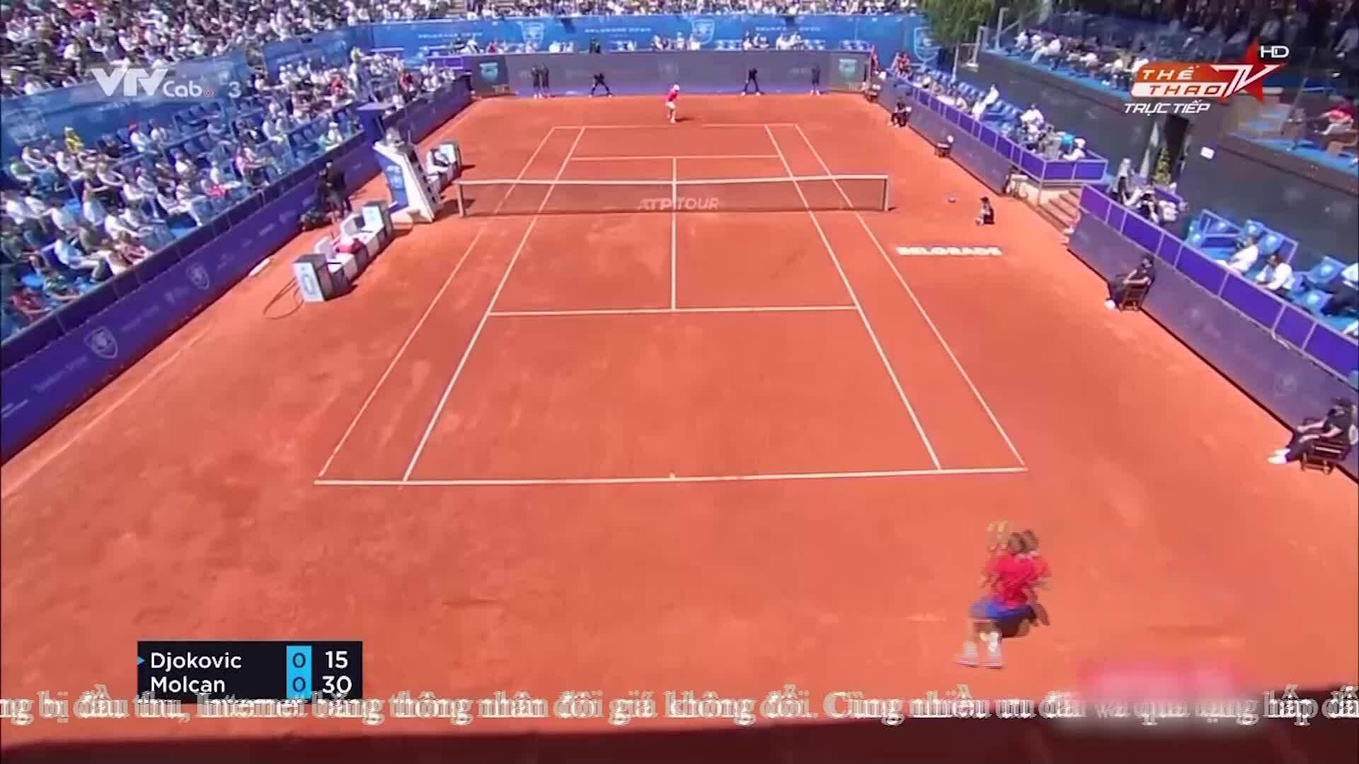 Djokovic 2-0 Molcan