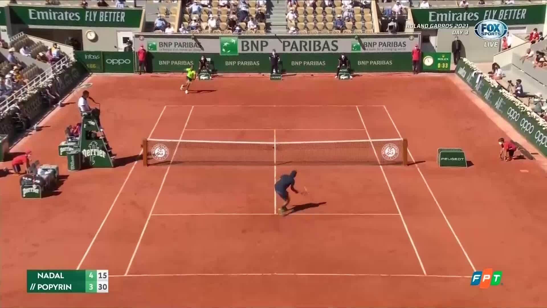 Nadal 3-0 Popyrin