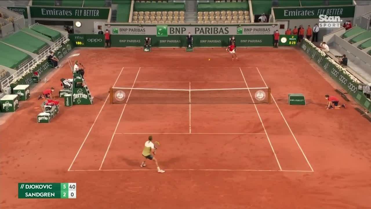 Djokovic 3-0 Sandgren